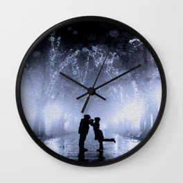 Lovers in the park Wall Clock