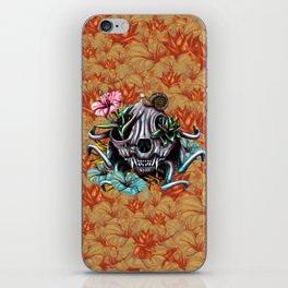 The Skull the Flowers and the Snail CoLoR iPhone Skin