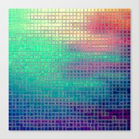 pixel art Canvas Prints featuring piXel by 2sweet4words Designs