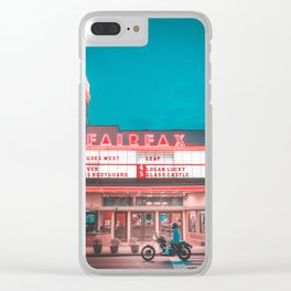 Fairfax red Clear iPhone Case