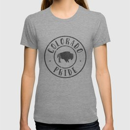 Native Colorado Gifts CO Colorado State Flag Buffalo Black T-shirt