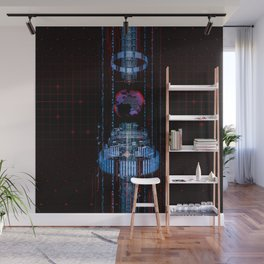 Virtual Data Earth Wall Mural