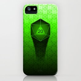 D20 All I Do Is Crit!  Green Ombre iPhone Case