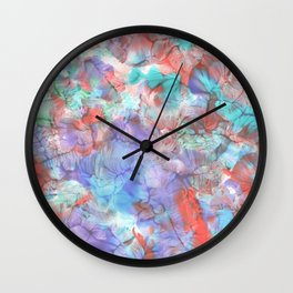 Patches of colors Wall Clock