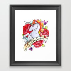 F*ck Your Opinion Framed Art Print