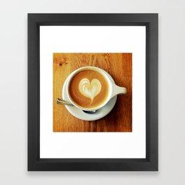 A Warm Cup of Love Framed Art Print