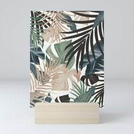 Tropical Jungle Leaves Pattern #13 (Fall Colors) #tropical #decor #art #society6 Mini Art Print