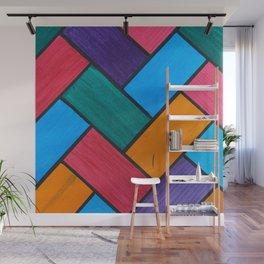 Rainbow Herring Bone Wall Mural
