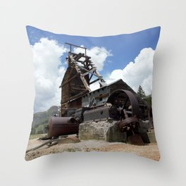 Exploring the Longfellow Mine of the Gold Rush - A Series, No. 2 of 9 Throw Pillow