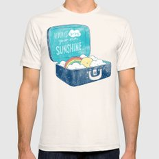Always bring your own sunshine Natural SMALL Mens Fitted Tee