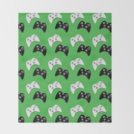 Video Game Controllers Throw Blanket