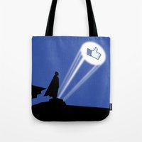gotham Tote Bags featuring Gotham Like by Tony Vazquez
