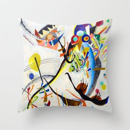 Wassily Kandinsky Blue Segment Throw Pillow