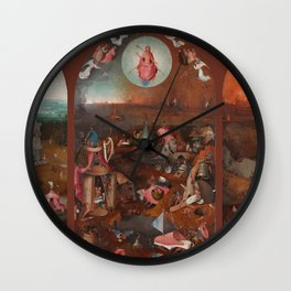 """Hieronymus Bosch """"The Last Judgment"""" triptych (Bruges) Wall Clock"""