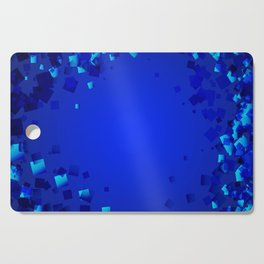 Sea explosive pattern of rhombuses and squares at the depth of the blue ocean. Cutting Board