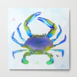 Colorful Crab Metal Print