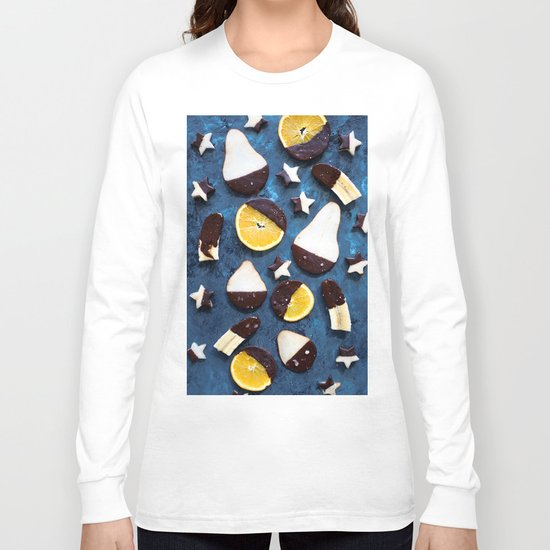 fruits dipped in chocolate Long Sleeve T-shirt