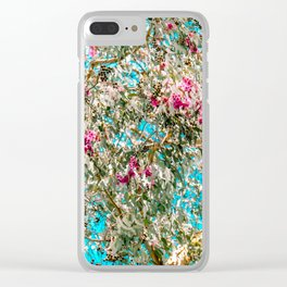 Faux Cherry Blossoms Clear iPhone Case