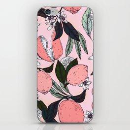 Flowering in the pink oranges iPhone Skin