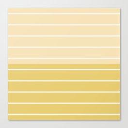Two Tone Stripes - Yellow Canvas Print