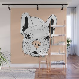 Frenchie Face Wall Mural