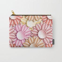 Stylized Daisy Pattern V2 Carry-All Pouch