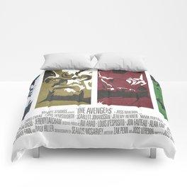 Vintage Avengers Film Poster Comforters