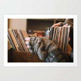 Vinyl Dreams Art Print