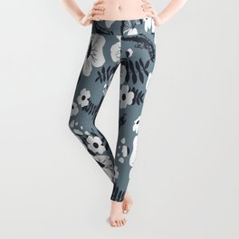 White Rose Leggings