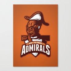 Mon Calamari Admirals on Orange Canvas Print