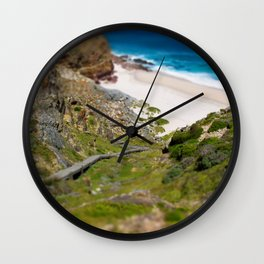 down the beach path Wall Clock