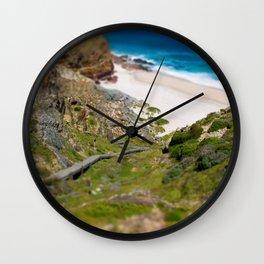 down the beach path Wall Clock
