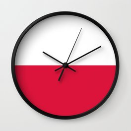 Flag of Poland - Authentic (High Quality Image) Wall Clock