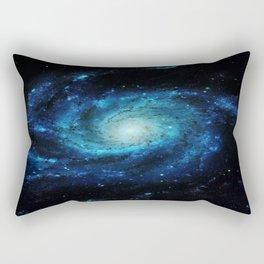 Spiral gAlaxy. Teal Ocean Blue Rectangular Pillow