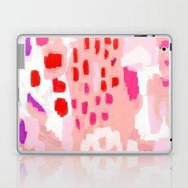 Wesli - minimalist pink purple white trendy millennial pink home decor canvas art Laptop & iPad Skin
