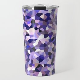 Violet Mosaic Pattern Travel Mug