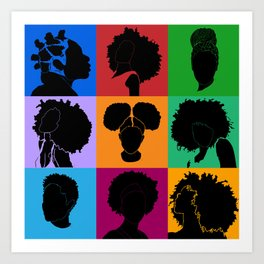 FOR COLORED GIRLS COLLECTION COLLAGE Art Print