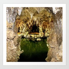 In the grotto Art Print