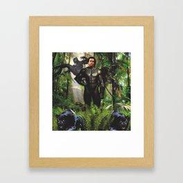 Huey Panther Newton Framed Art Print