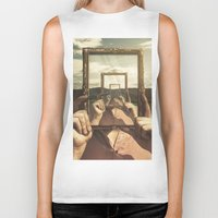 frame Biker Tanks featuring Empty Frame by Seamless