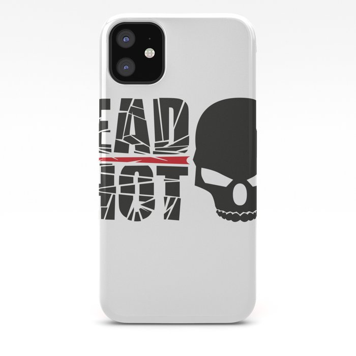 Headshot skull iPhone Case