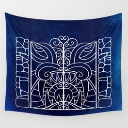 Threshold Guardian (blue) Wall Tapestry