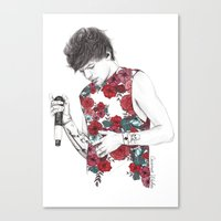 coconutwishes Canvas Prints featuring Floral Louis by Coconut Wishes