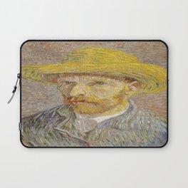 Vincent van Gogh's Self-Portrait with Straw Hat Laptop Sleeve