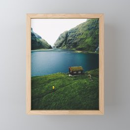 saksun at faroe Framed Mini Art Print