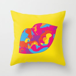 Besos Throw Pillow