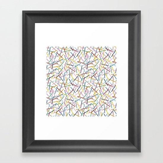 Kerplunk Repeat 2 Framed Art Print