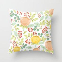 Flowers pattern 8970 Throw Pillow
