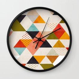 geometry mid century Wall Clock