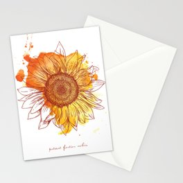 Sunflower - putant fortior nobis Stationery Cards